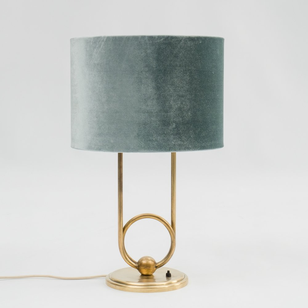 1950s table lamp with solid brass base
