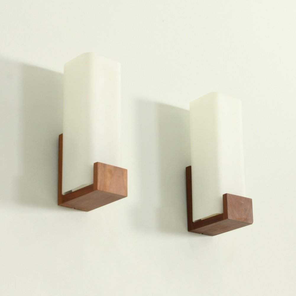Pair of Auray 80.030 Sconces by Philips, the Netherlands 1960s