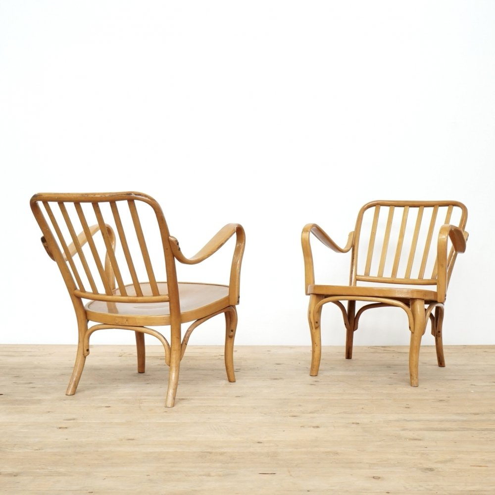 Set of two Joseph Frank easy chairs for Thonet