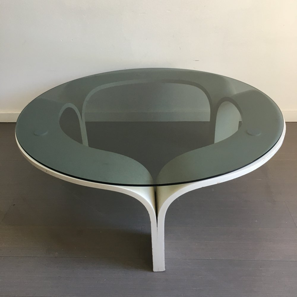 Dutch bent plywood coffee table, 1970s