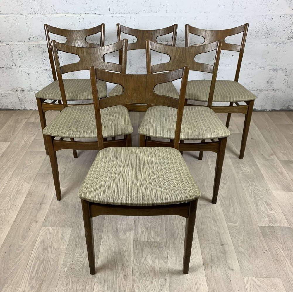 Set of 6 oak dining chairs from Kurt Østervig, 1960s