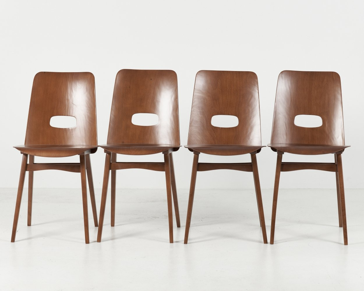 Set of 4 chairs from TON, 1970