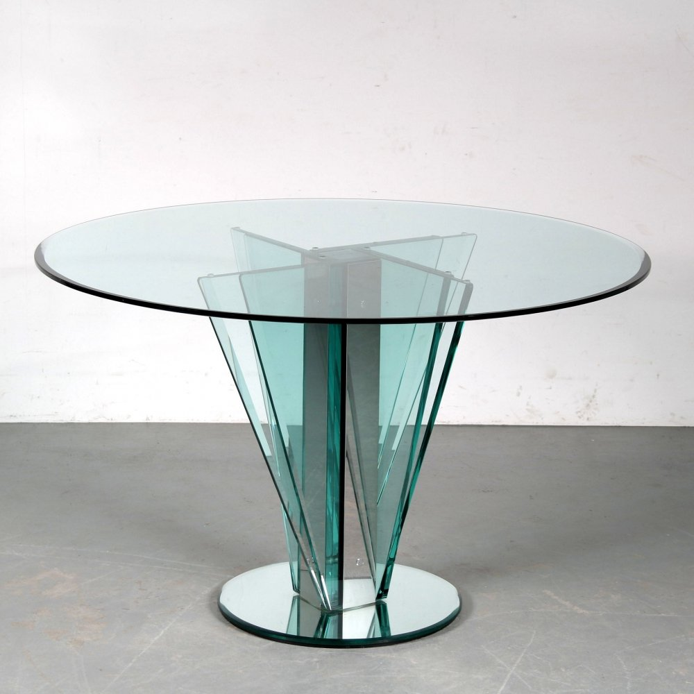 Nile Glass Table, Italy 1970