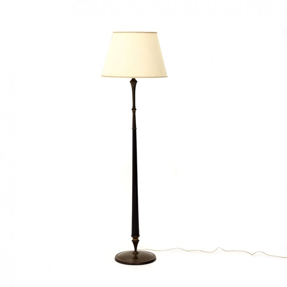 Floor lamp with fabric diffuser, 1940