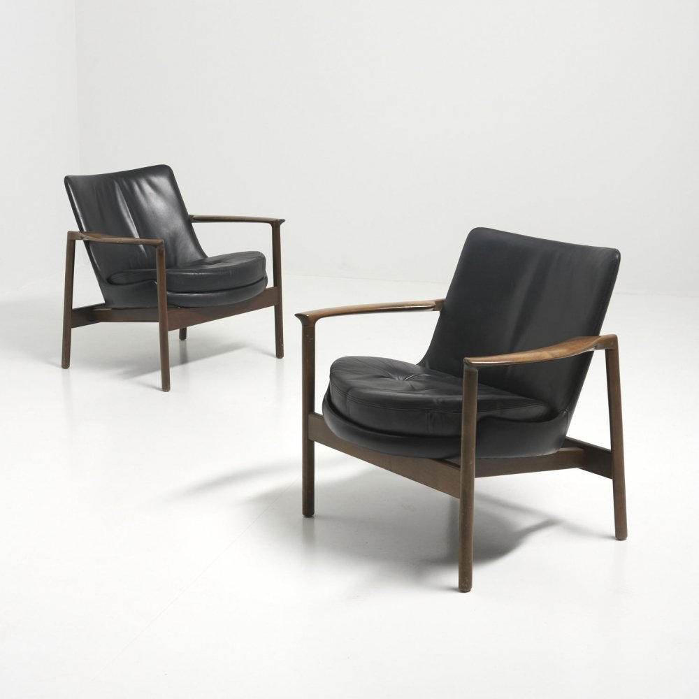 Pair of easy chairs by Ib Kofod Larsen, 1970s