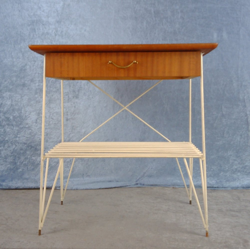 String hallway table with one drawer, Sweden 1960