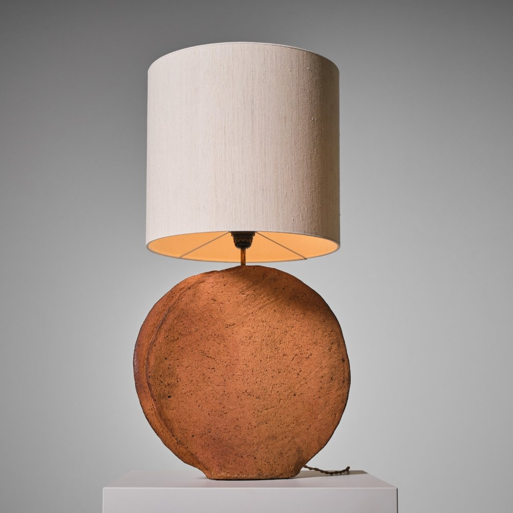 Sculptural French Ceramic table lamp, 1960s