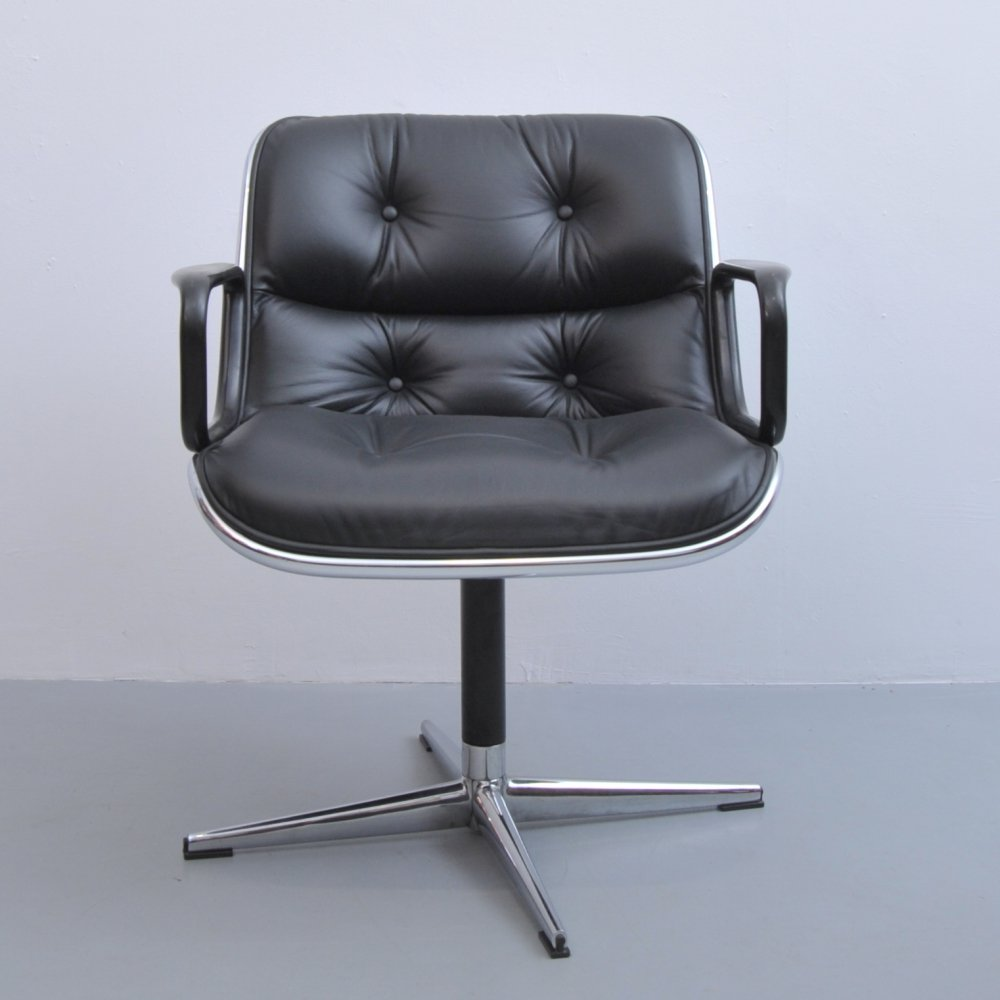 Executive office chair by Charles Pollock for Knoll, 1950s