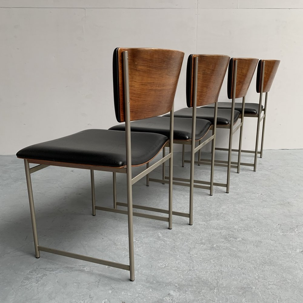 Set of 4 SM08 dining chairs by Cees Braakman for Pastoe, Netherlands 1950s