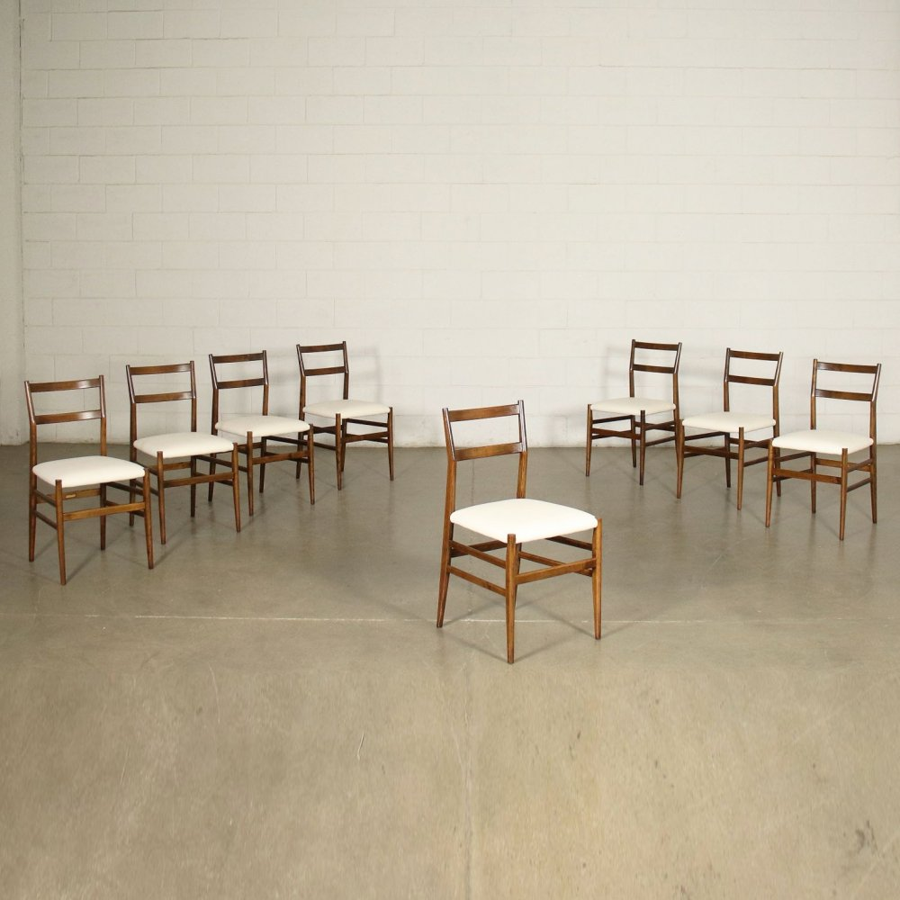 Set of 8 Leggera chairs by Gio Ponti for Cassina