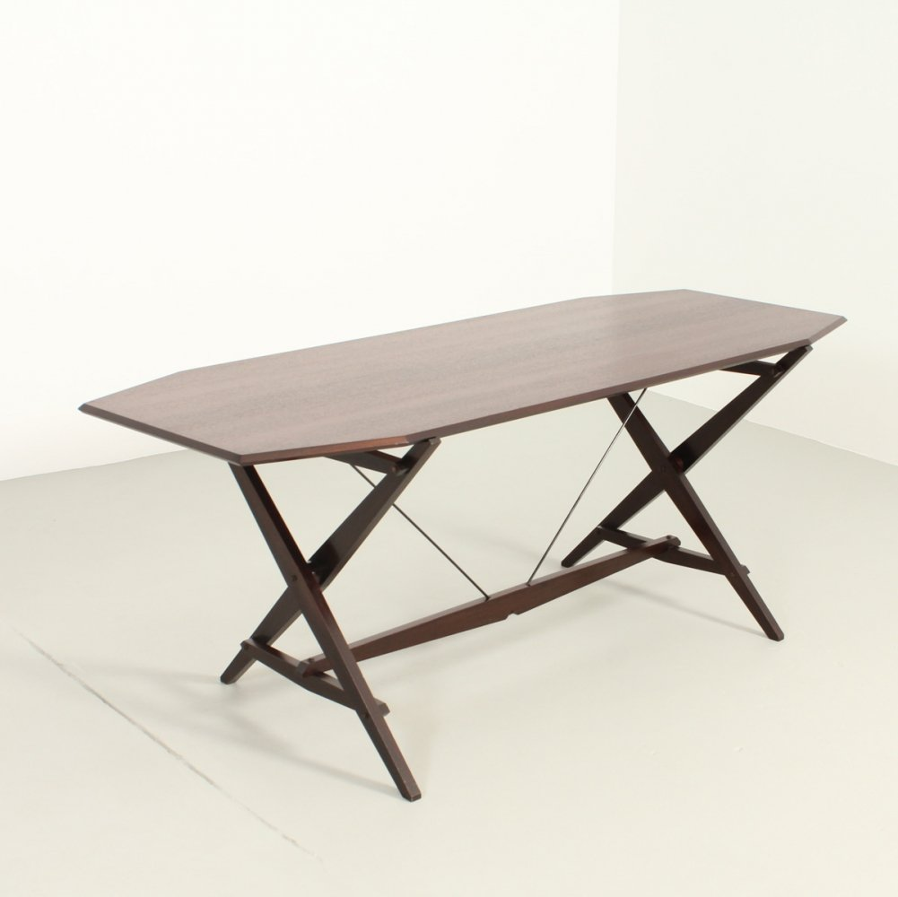Cavalletto Dining or Working Table by Franco Albini for Poggi