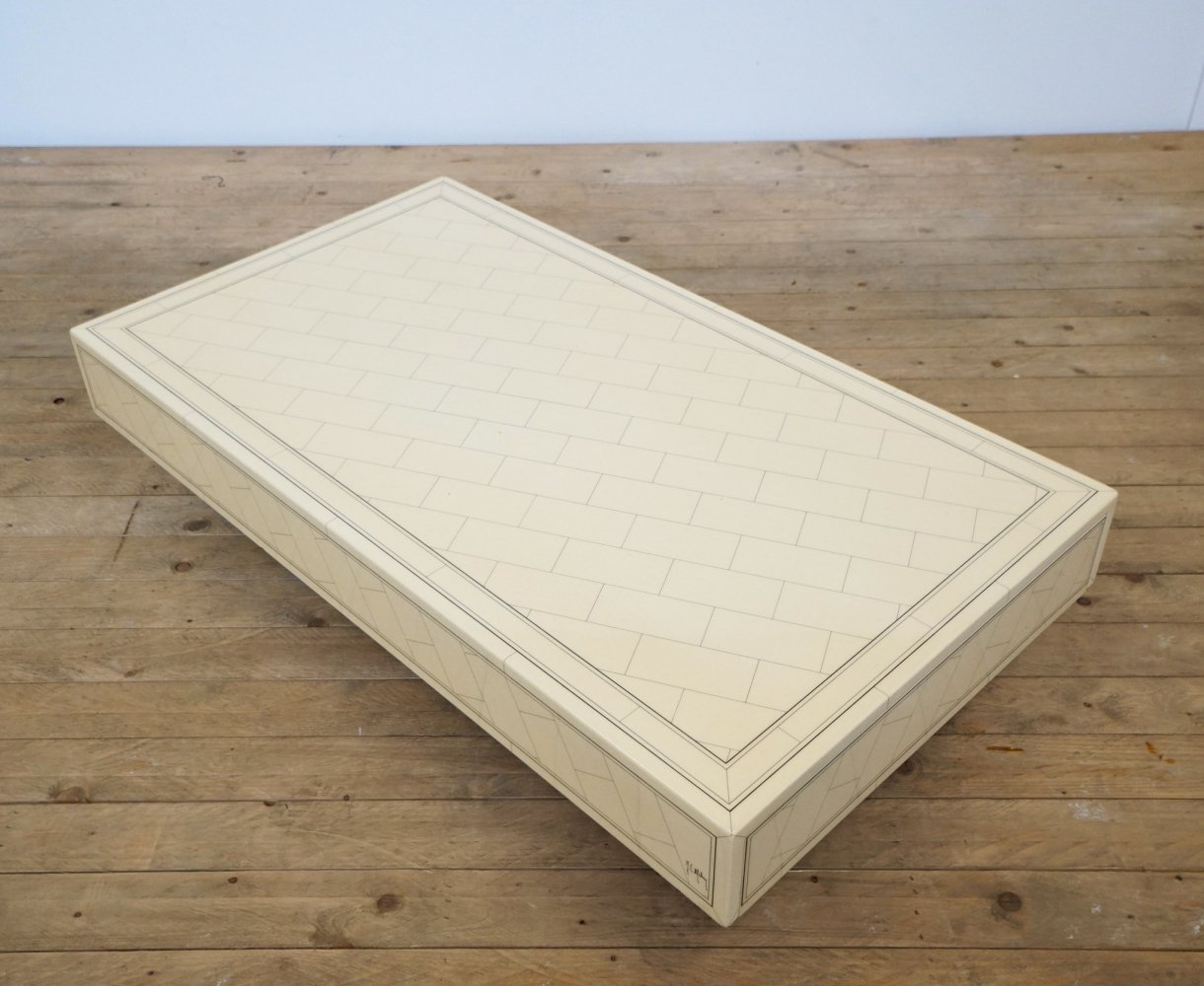 Coffee table with drawers by Claude Mahey