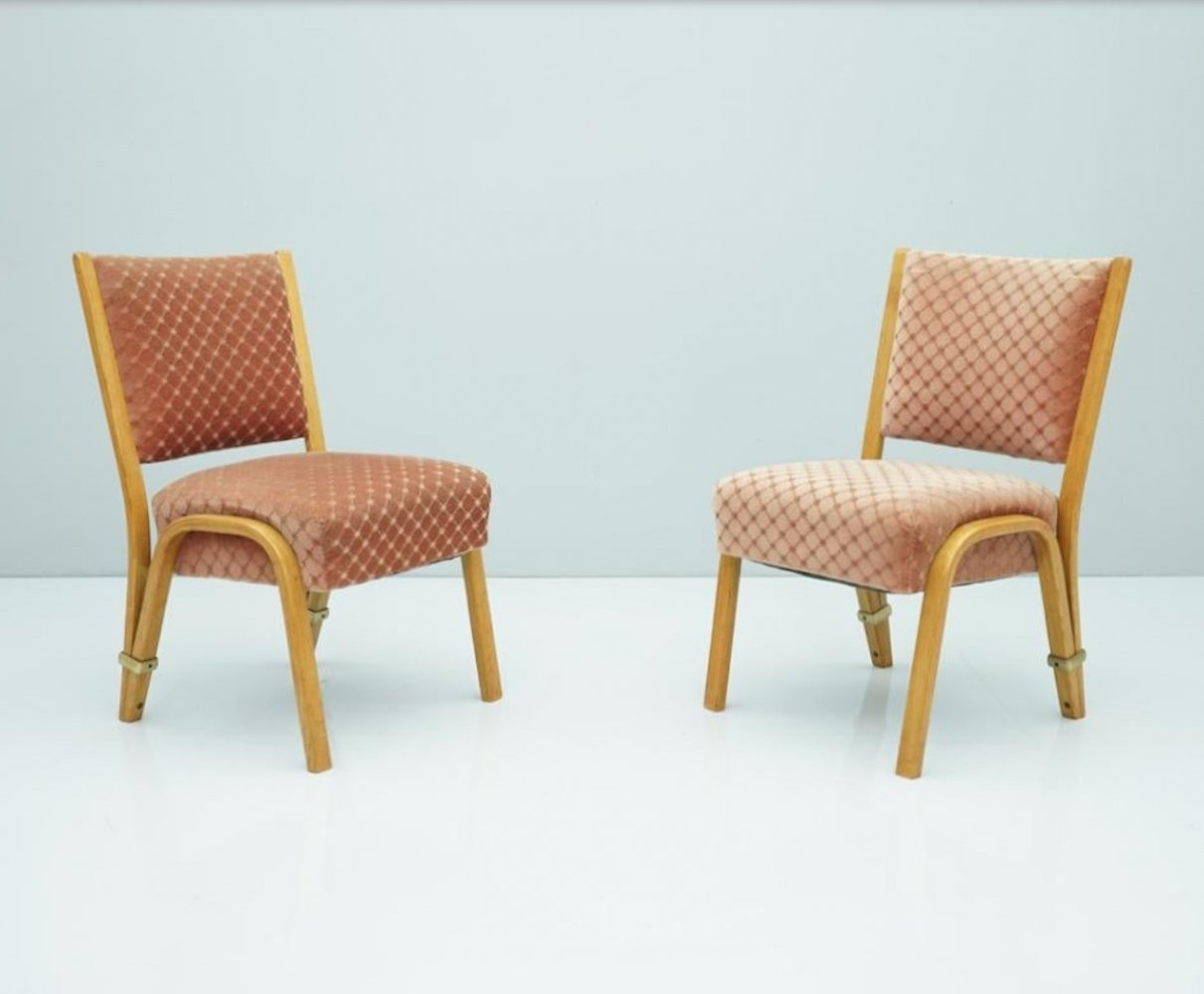 Pair of Hugues Steiner Chairs, France 1950s
