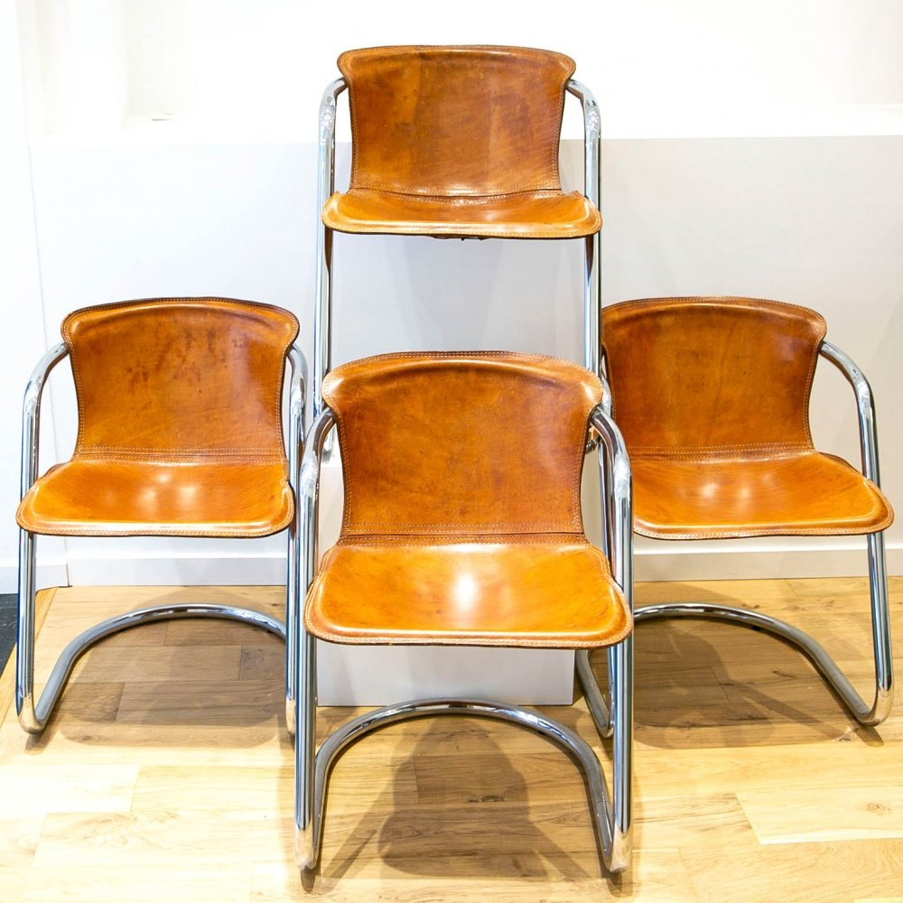Set of 4 Metaform dining chairs, 1970s