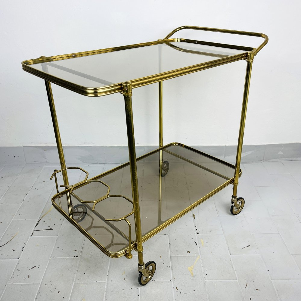 Vintage Serving Bar Cart, Italy 1960s