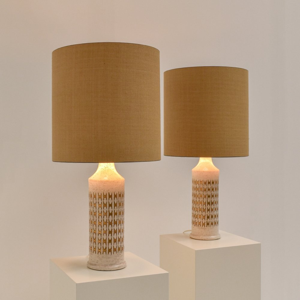 Set of two Large Bitossi Ceramic Table Lamps