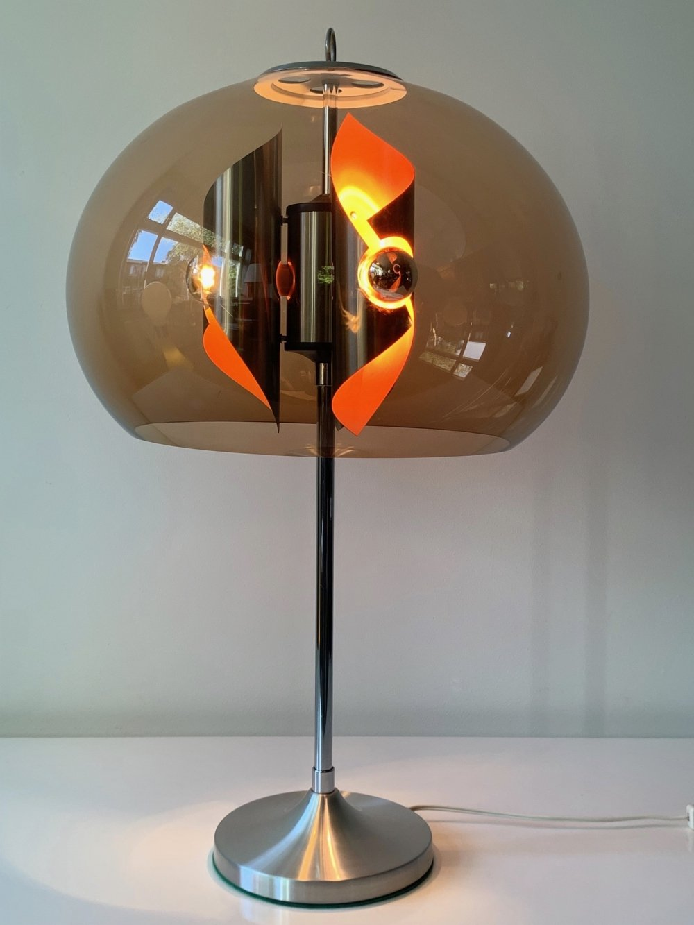 Large table lamp with unique design, 1960