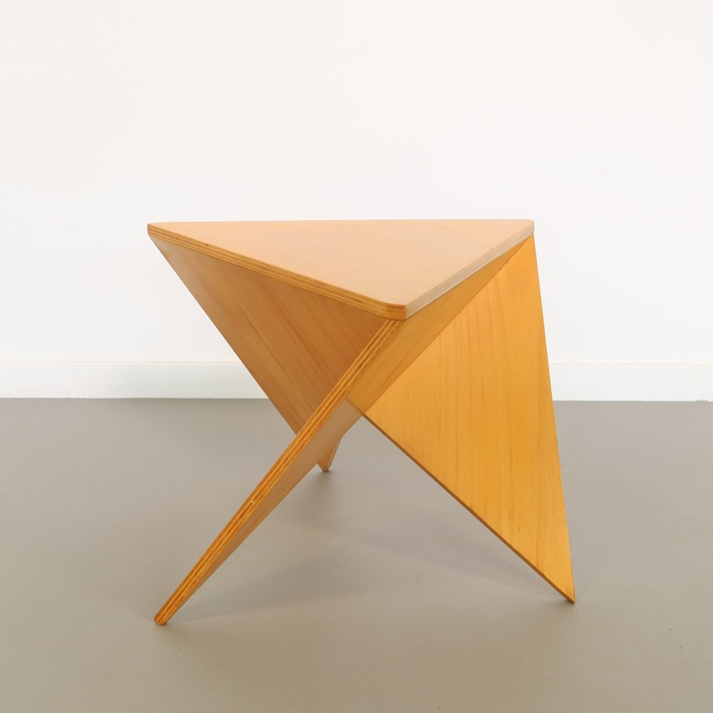 Rare plywood side table by Ronald Willemsen for Metaform, 1980s