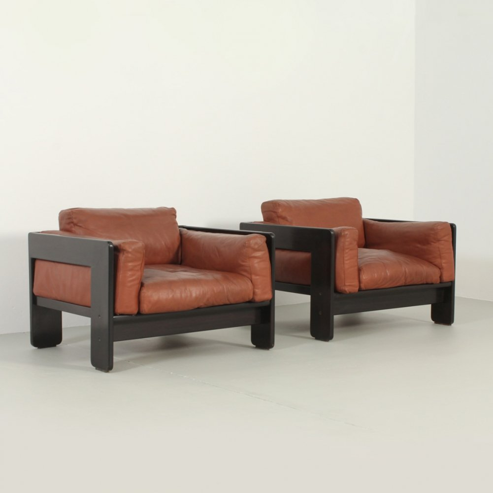 Pair of Bastiano Armchairs by Tobia Scarpa for Gavina, 1960