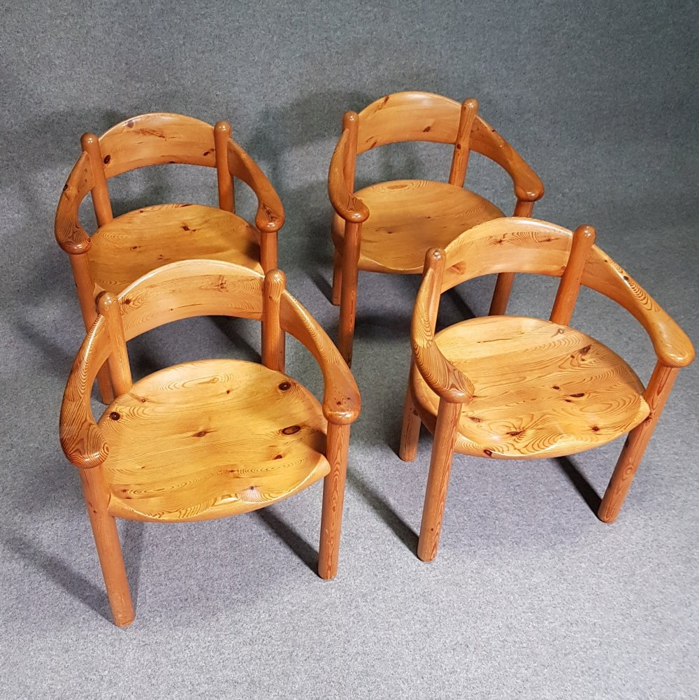 Set of 4 Vintage pine armchairs by Rainer Daumiller for Hirtshals Sawmill, 1970s