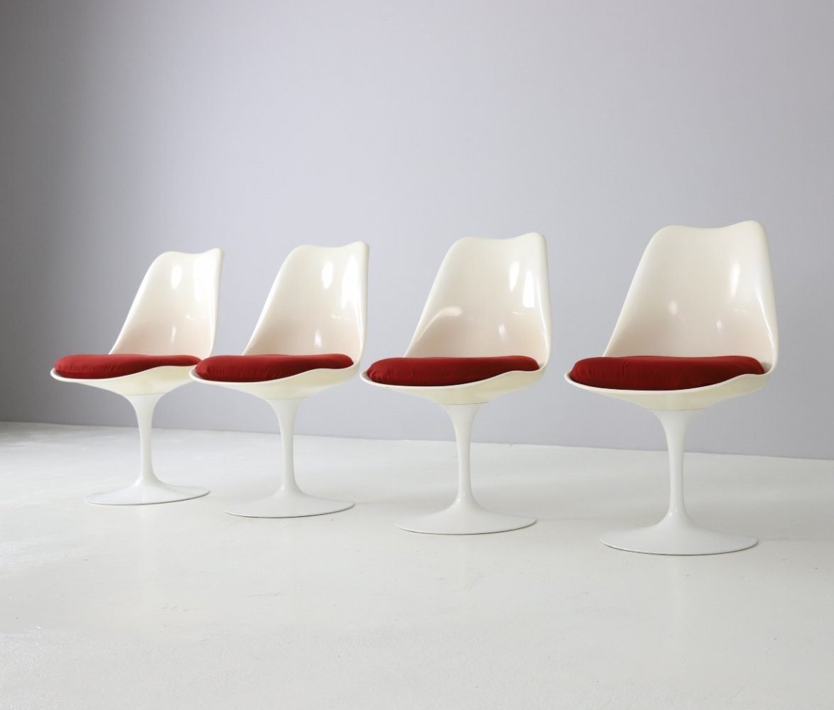 Set of 4 Tulip dining chairs by Eero Saarinen for Knoll International, 1960s