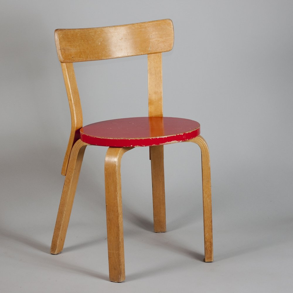 Rare Small Production 1950s Chair by Alvar Aalto