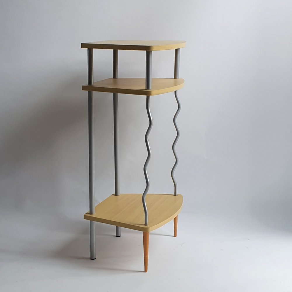 Side table cabinet in memphis design style, 1990s