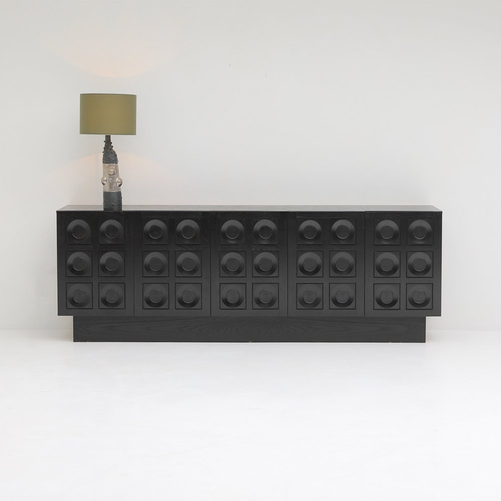 Defour 1970s sideboard with graphic doors