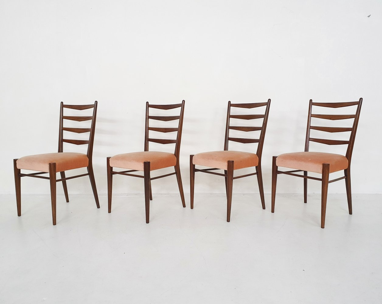 Set of four teak dining chairs model ST09 by Pastoe, 1960