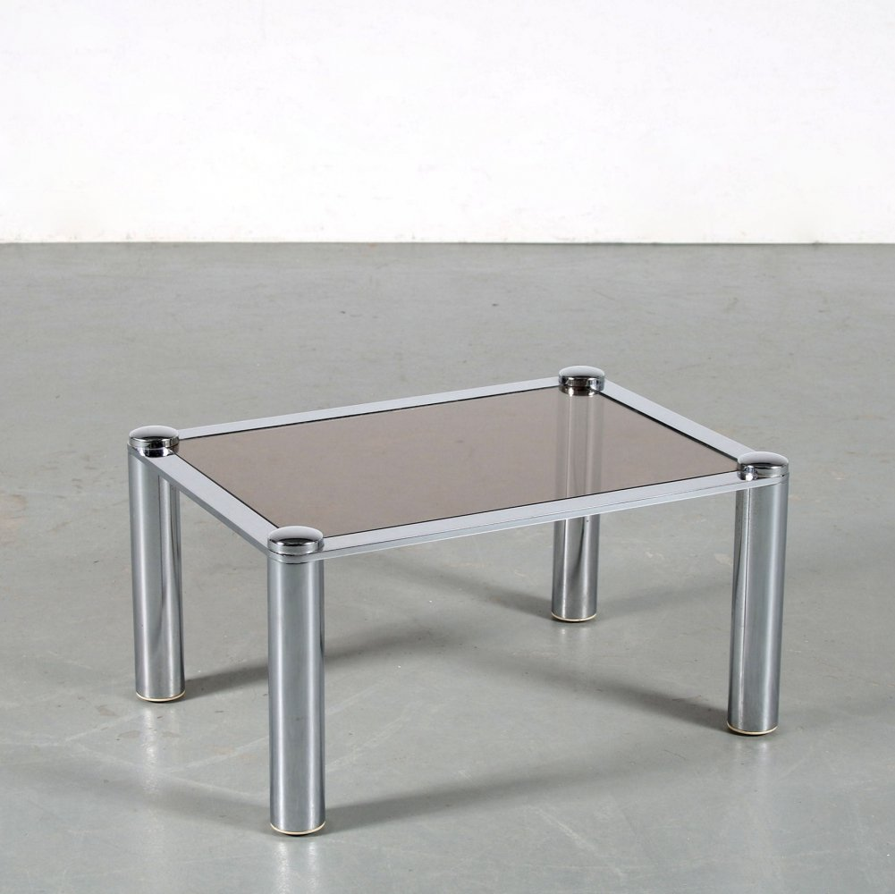 1970s Chrome plated side table
