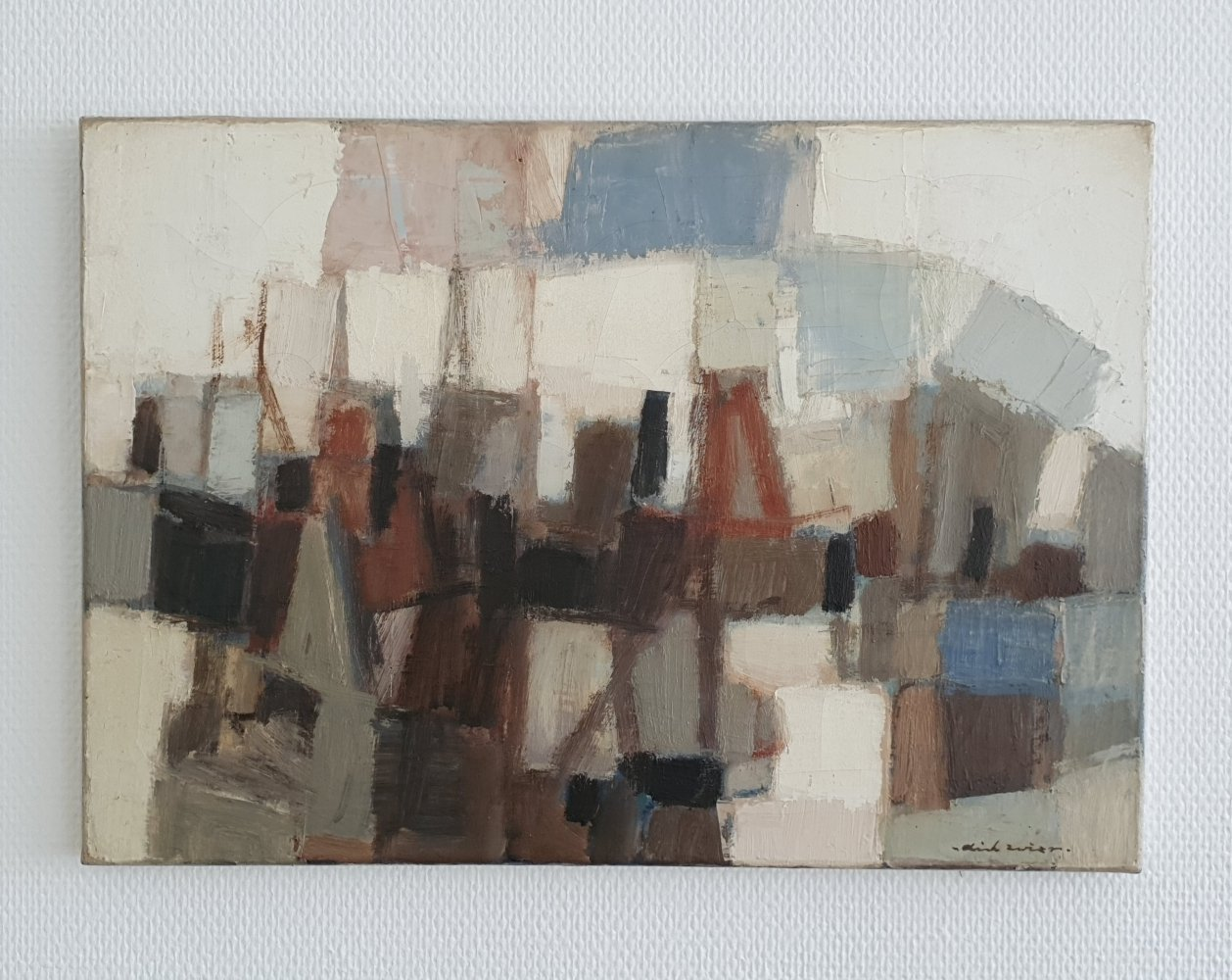 1960s Abstract painting Oil on canvas by Dick Zwier