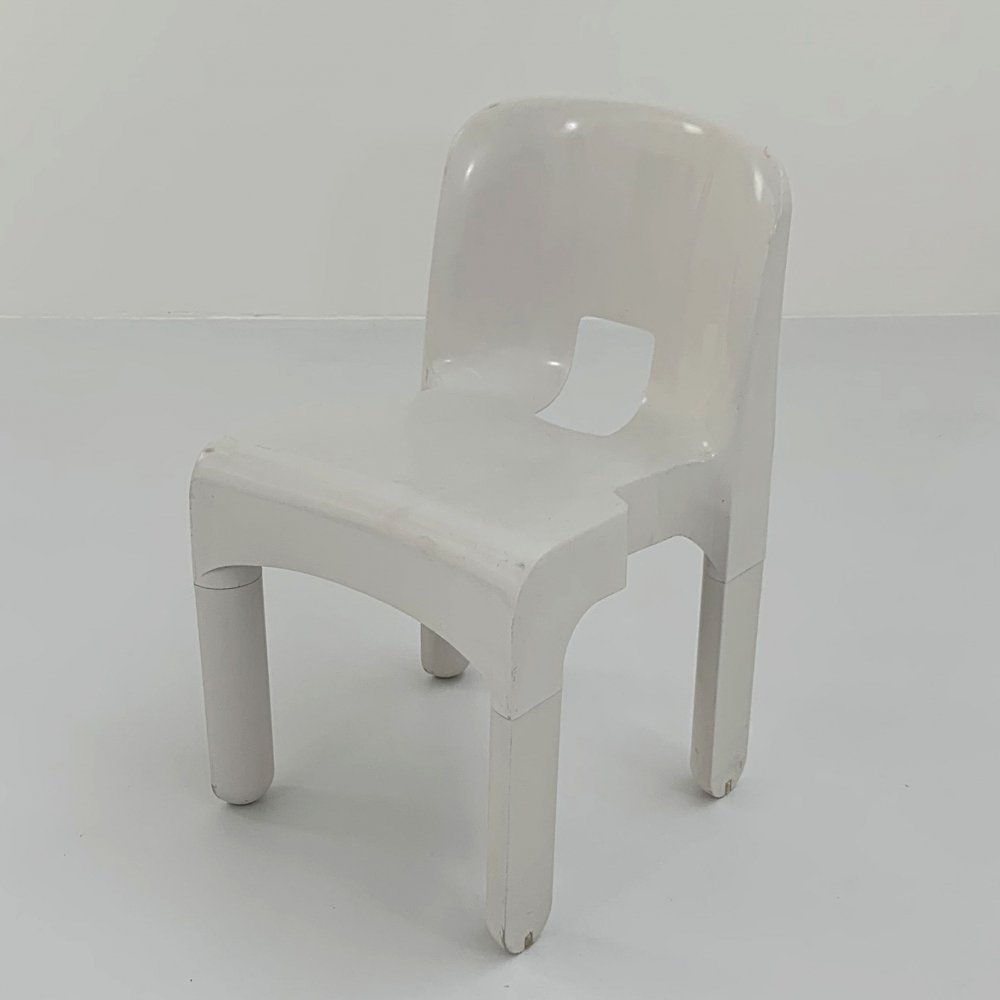White Model 4867 Universale Chair by Joe Colombo for Kartell, 1970s