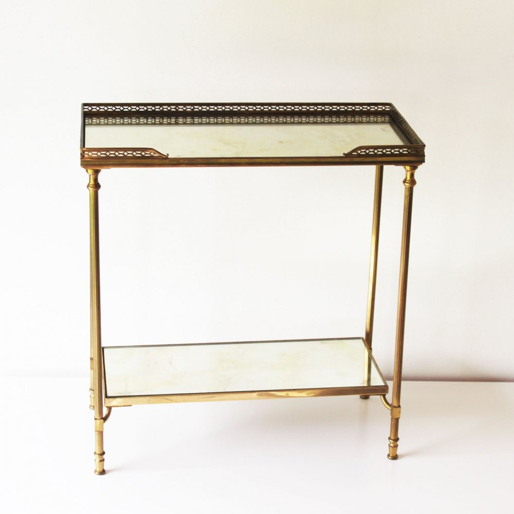Two Tier Side Table by Maison Jansen, France 1960