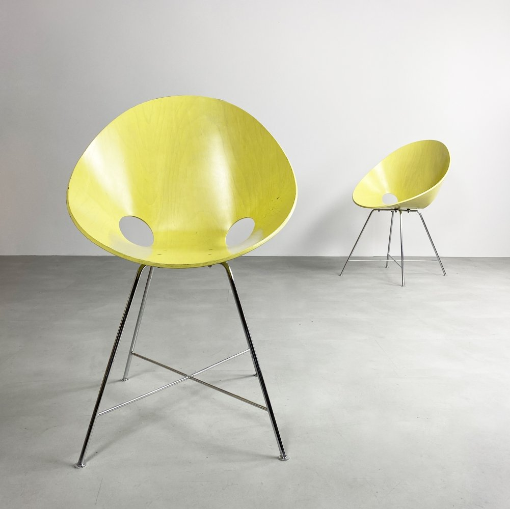 Vintage S664 Dining Chair by Eddie Harlis for Thonet