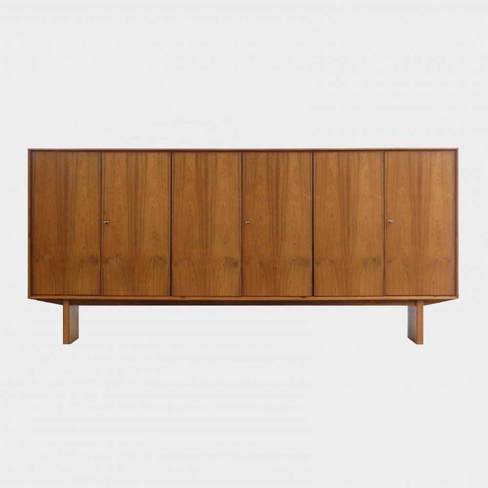 XXL vintage mid century Japanese style highboard cabinet in rosewood, 1960s