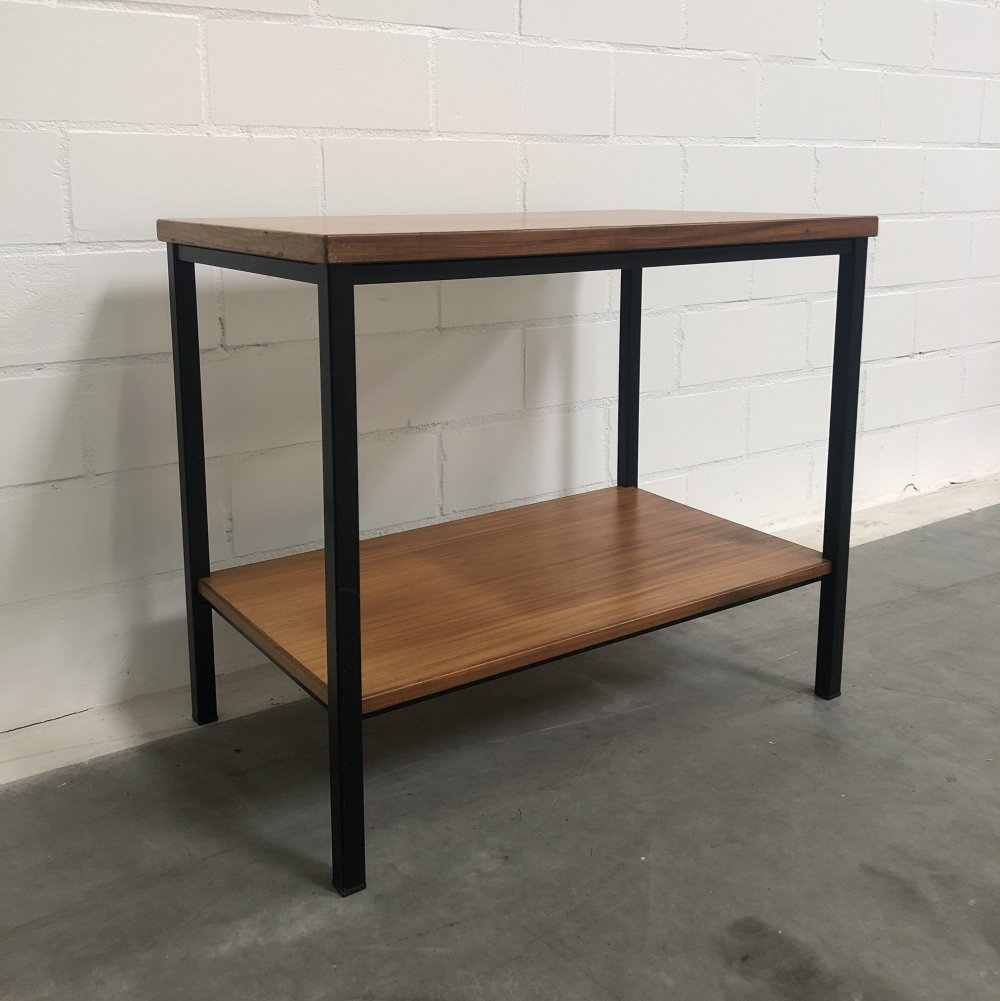 Mid-Century side table with steel legs, 1960s