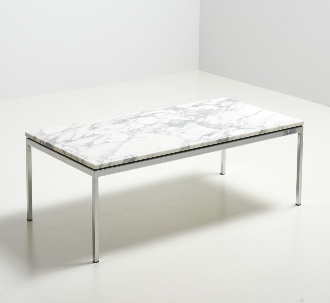 Coffee Table with a Marble Top by Florence Knoll for Knoll Int., Germany 1950