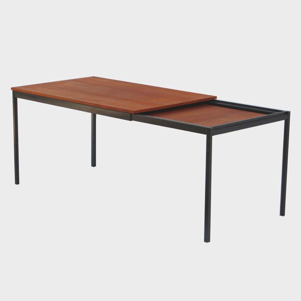 Extendable dining table made of teak by Cees Braakman for Pastoe, 1960s