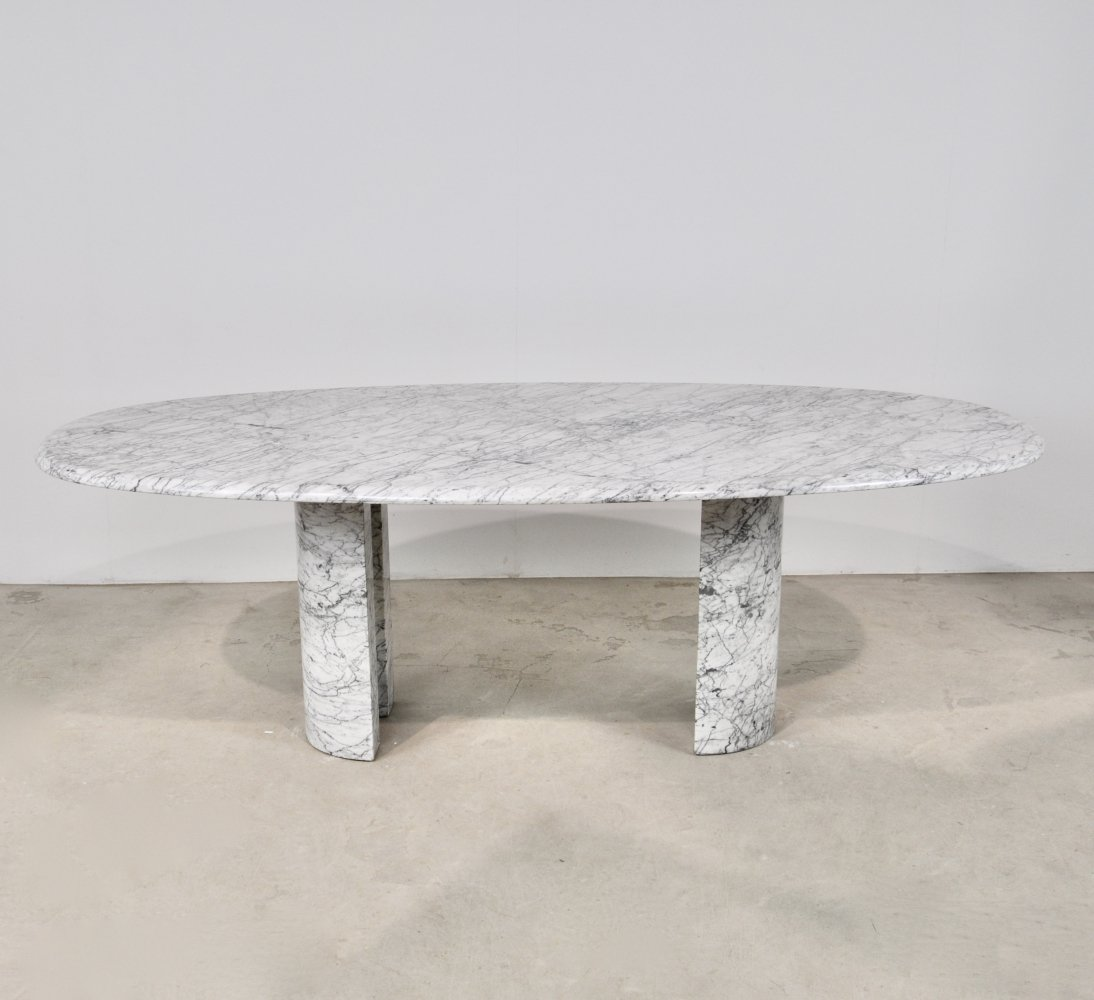 Marble Dining Table by Maison Charles, 1970s
