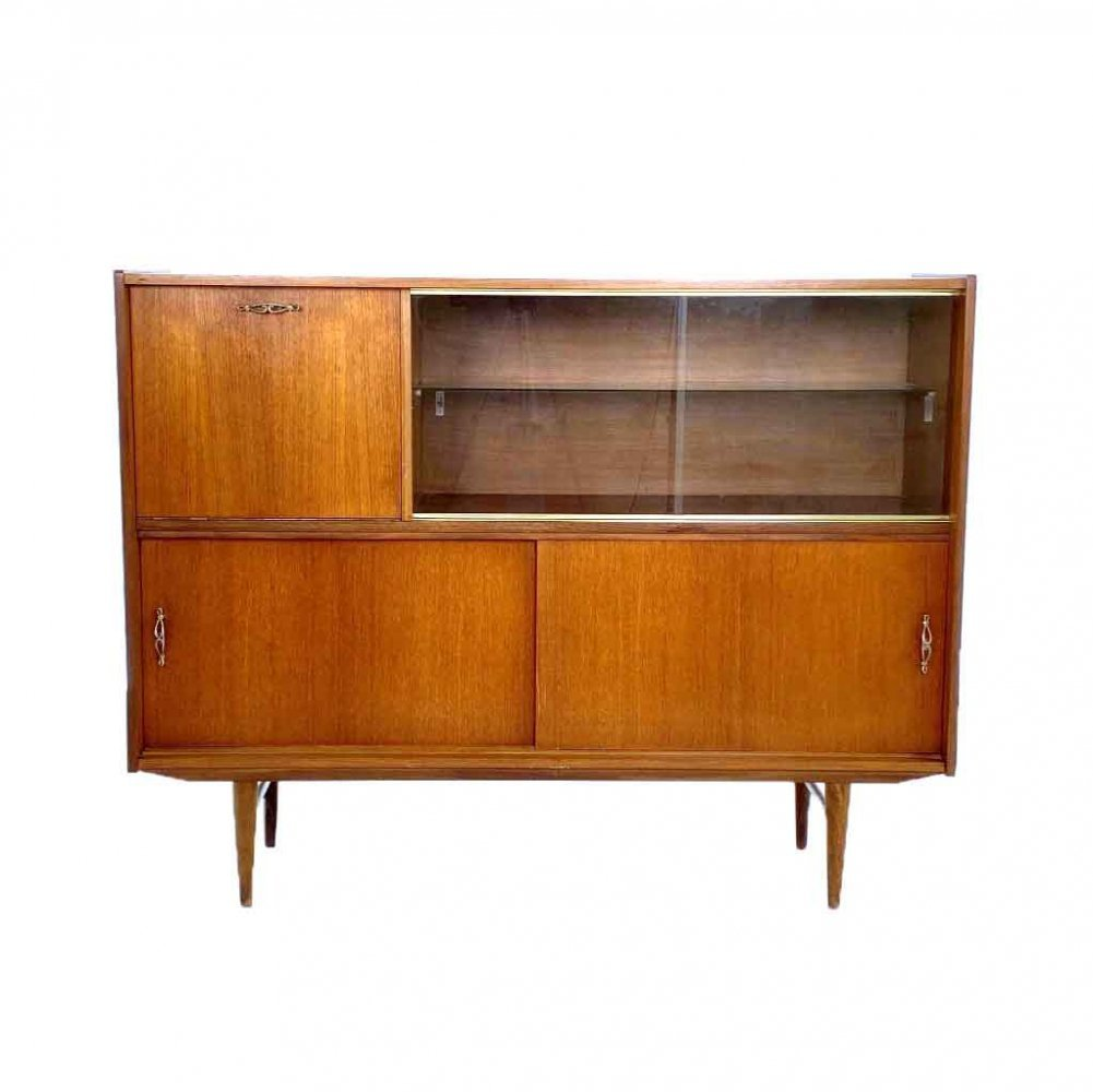 Vintage cupboard with showcase, 1960s