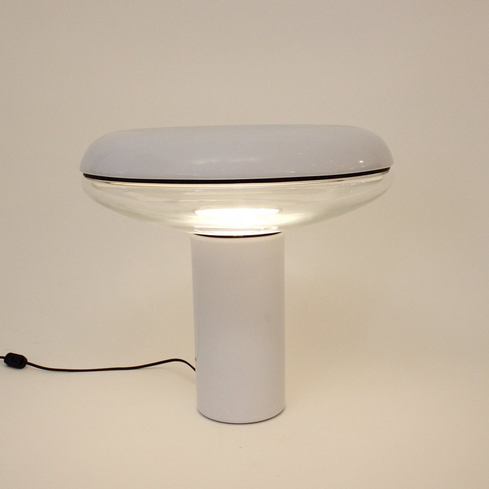 Large 70s lamp made out of metal & glass