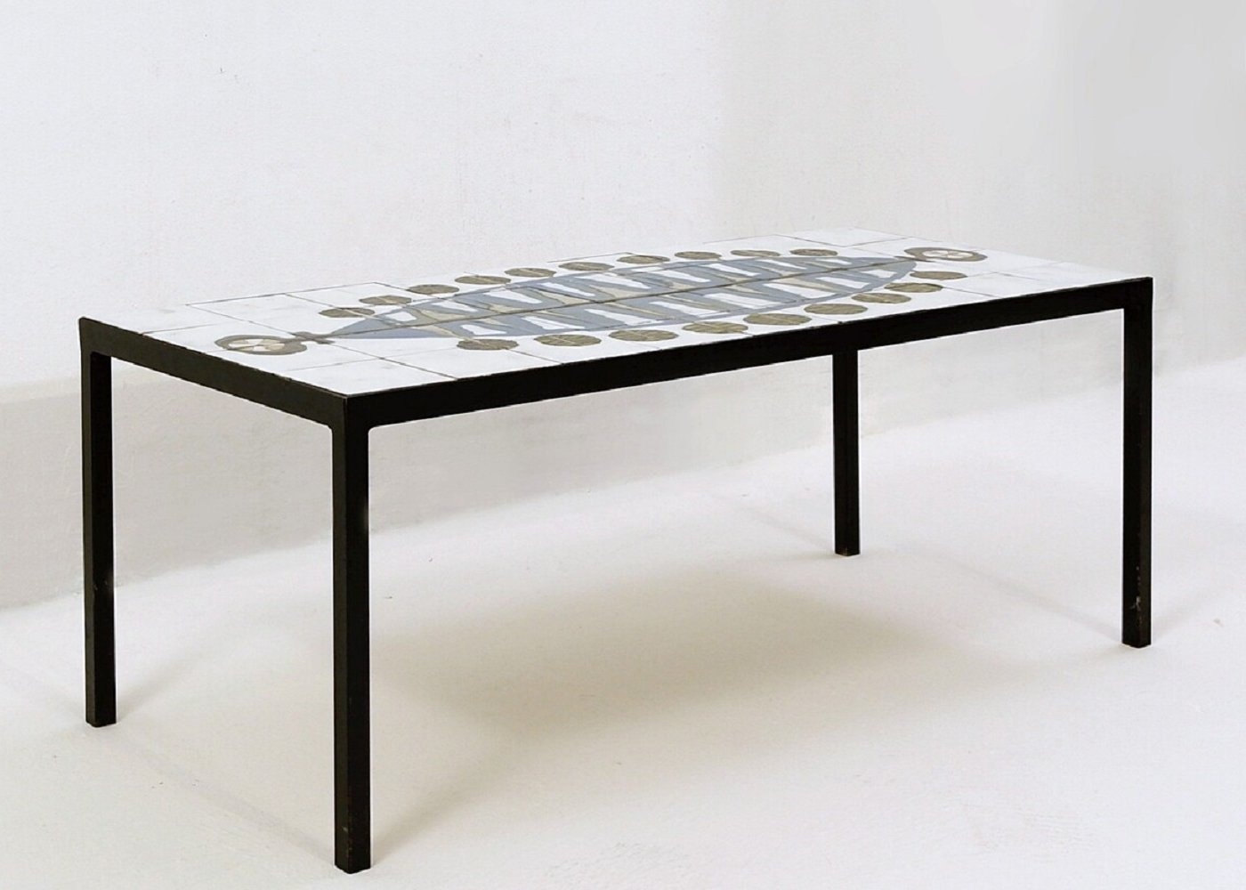 French Mid-Century tile coffee table, 1960s