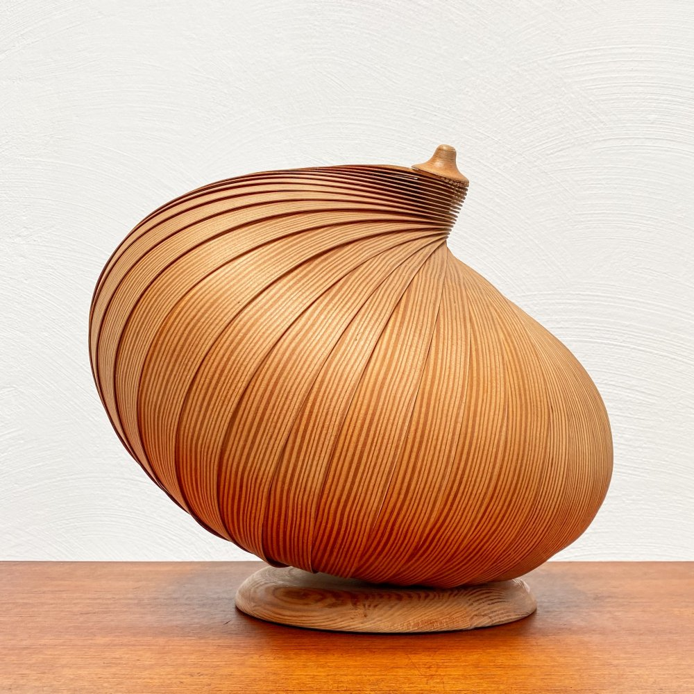 Rare wooden table lamp by Hans-Agne Jakobsson, 1960s