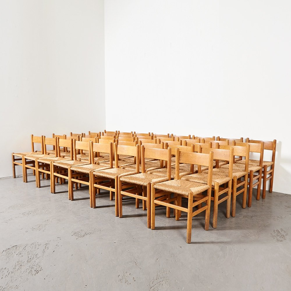 Johan van Heuvel set of 40 Dining Chairs for Ad Vorm, 1957