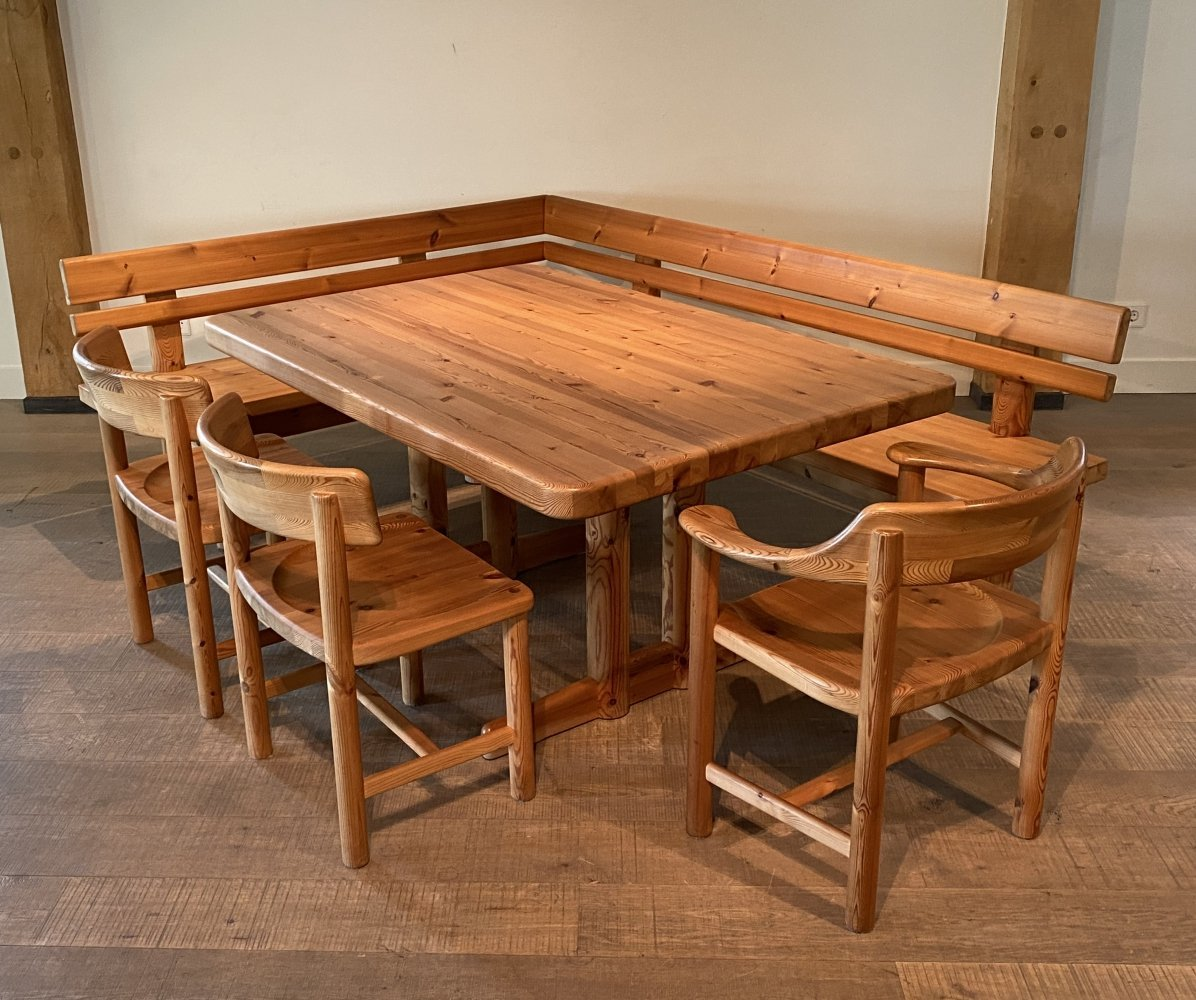 Dining Table sofa & chairs set by Rainer Daumiller