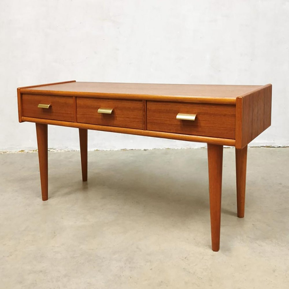 Vintage Scandinavian design low board with drawers