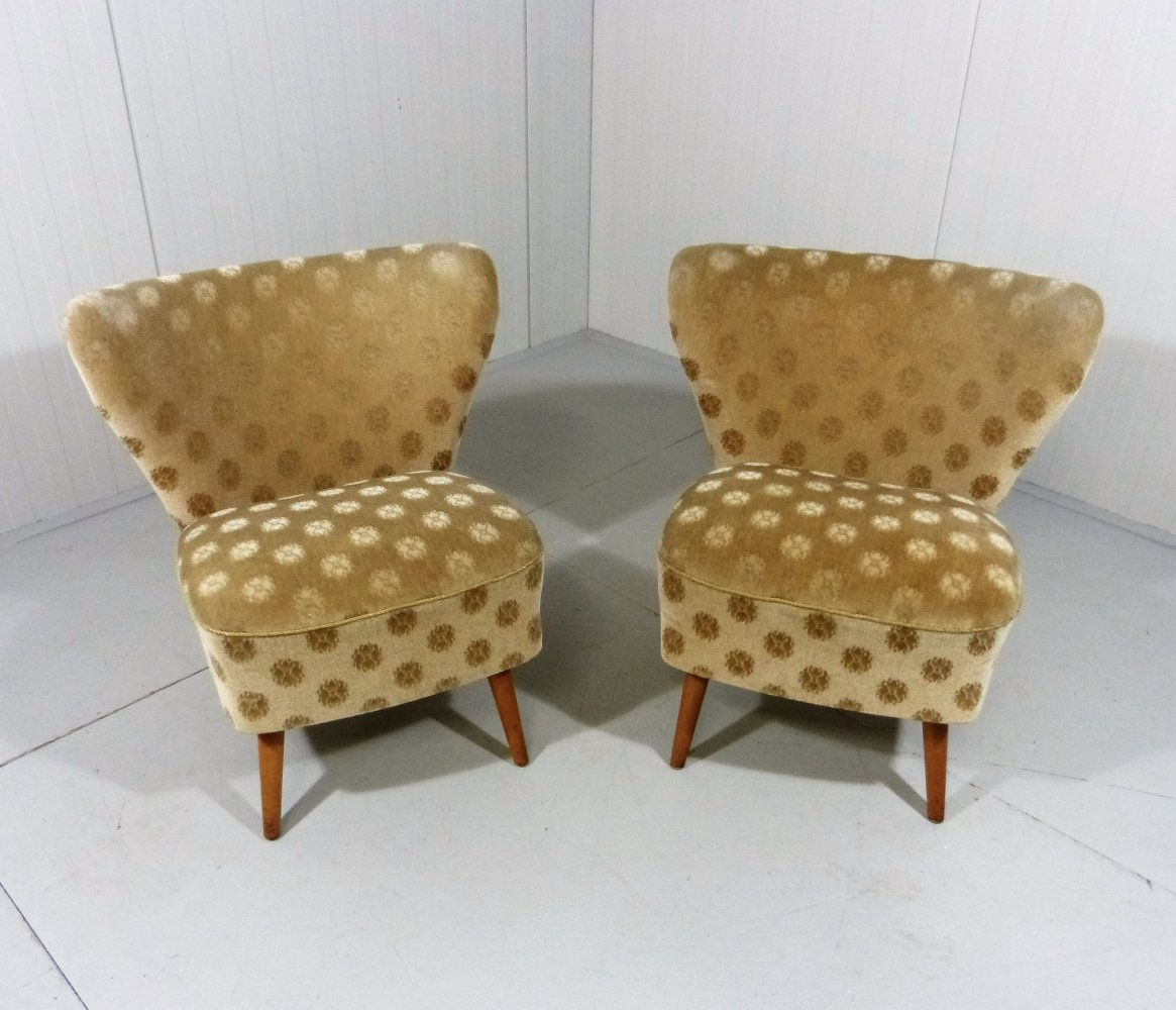Set of 2 cocktail chairs club chairs, 1950