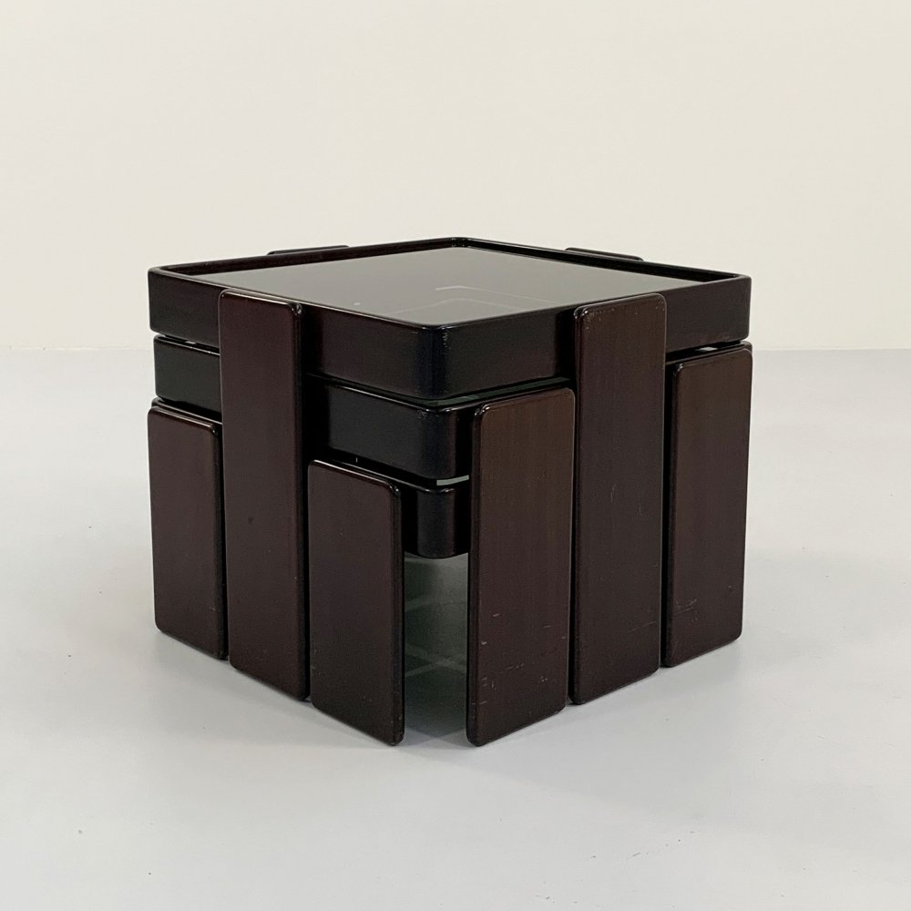 Set of nesting tables by Gianfranco Frattini for Cassina, 1970s