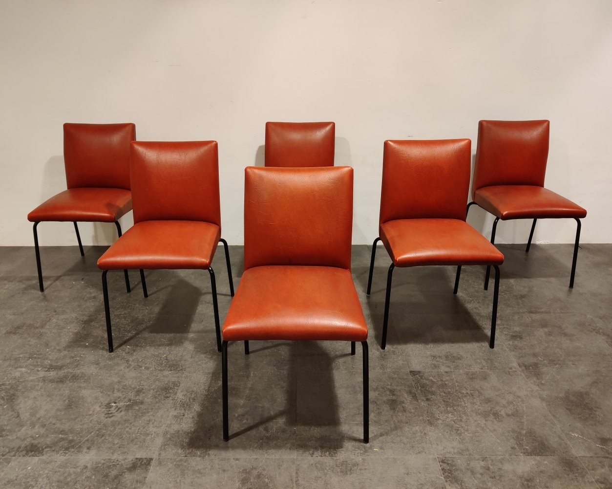 Vintage Robin dining chairs by Pierre Guariche for Meurop, France 1960