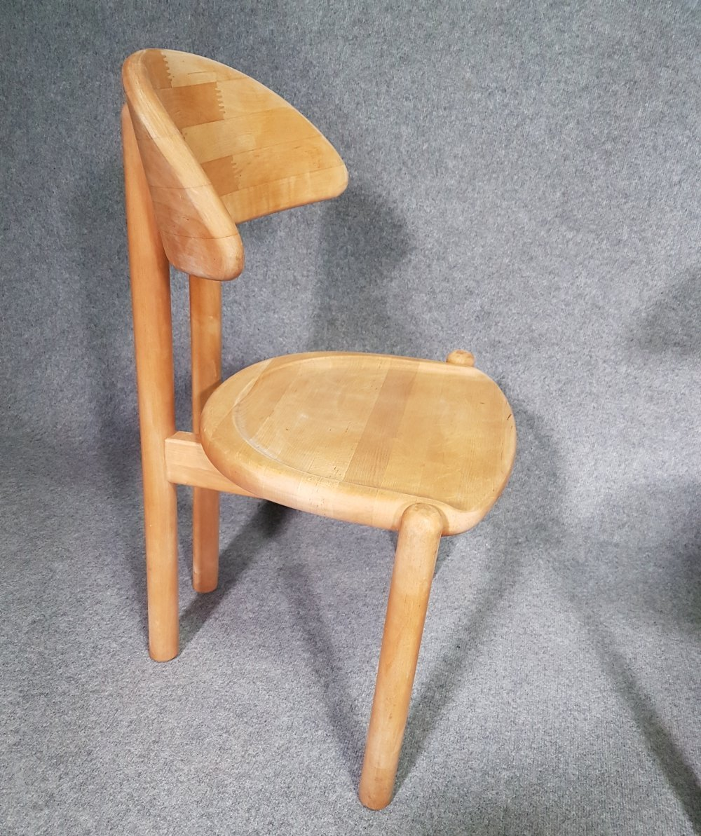 6 x chairs in solid maple by Ansager Møbler, Denmark 1980s